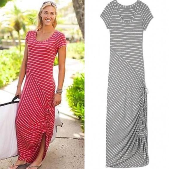 c7cc1e89d6 Athleta Dresses & Skirts - Athleta Shark Bite🦈 Striped maxi dress